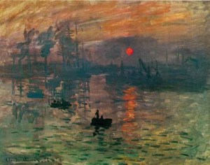 Monet impresszio a felkelo nap