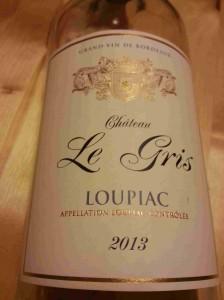 Ch Le Gris 2013 Loupiac